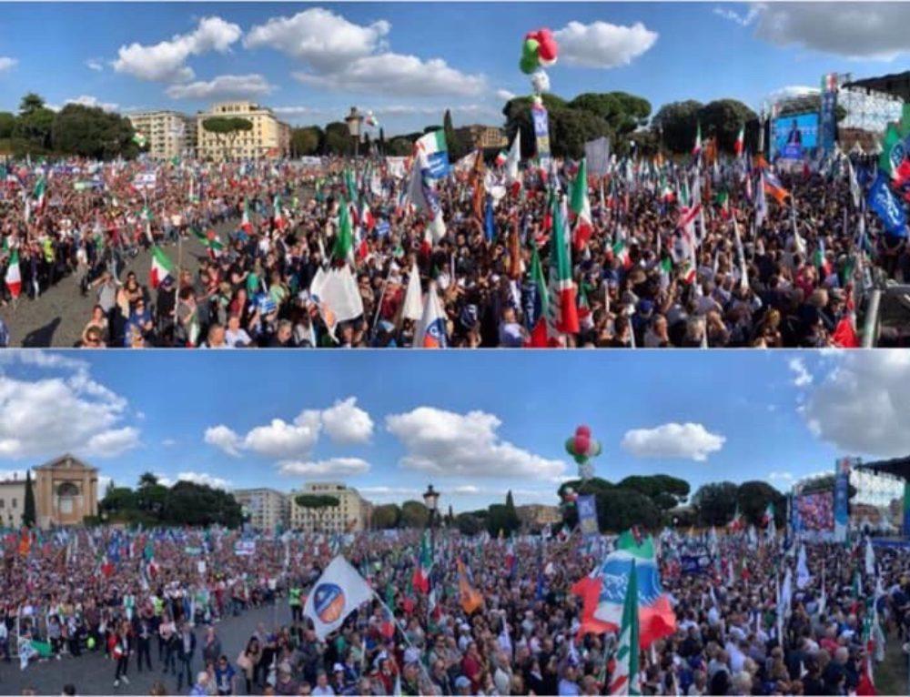 """"""" Manifestazione del Centro destra unito a Roma in piazza San Giovanni per dire no al Governo Giallo-Rosso"""""""