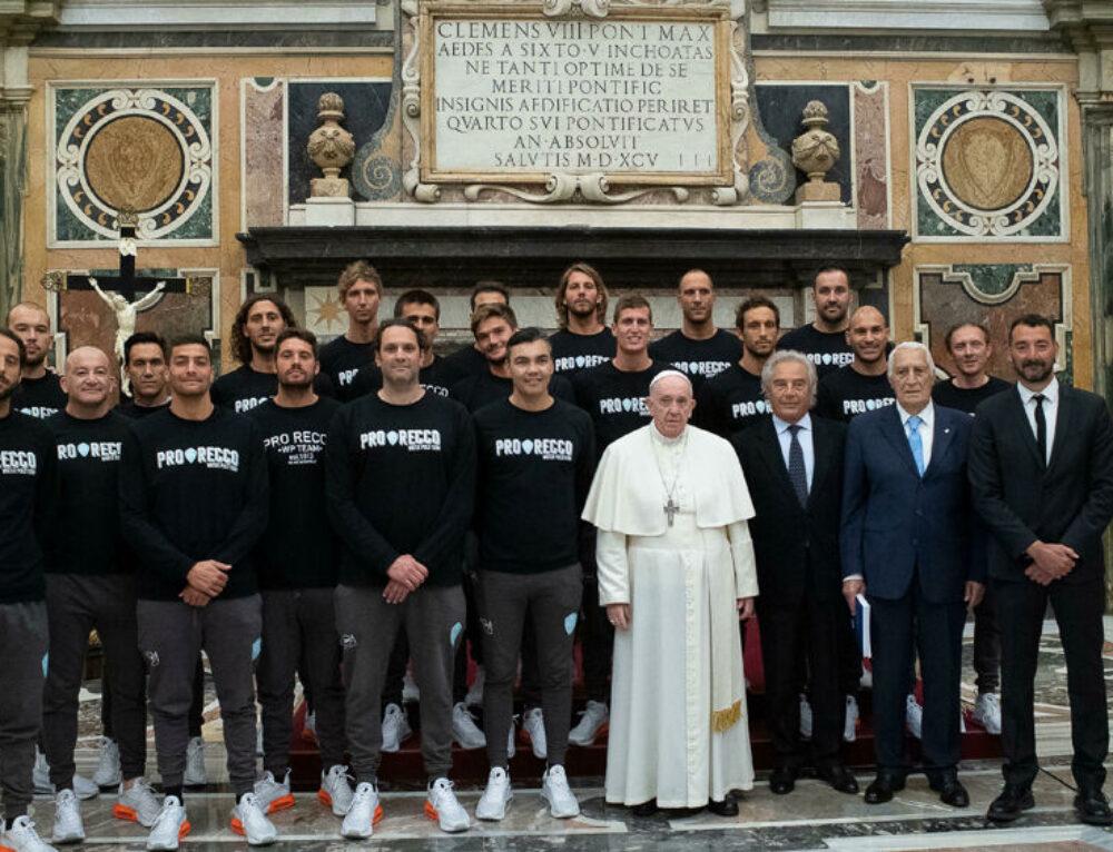 """""""La Pro Recco Waterpolo 1913 in Udienza privata dal Sommo Pontefice Bergoglio!"""""""